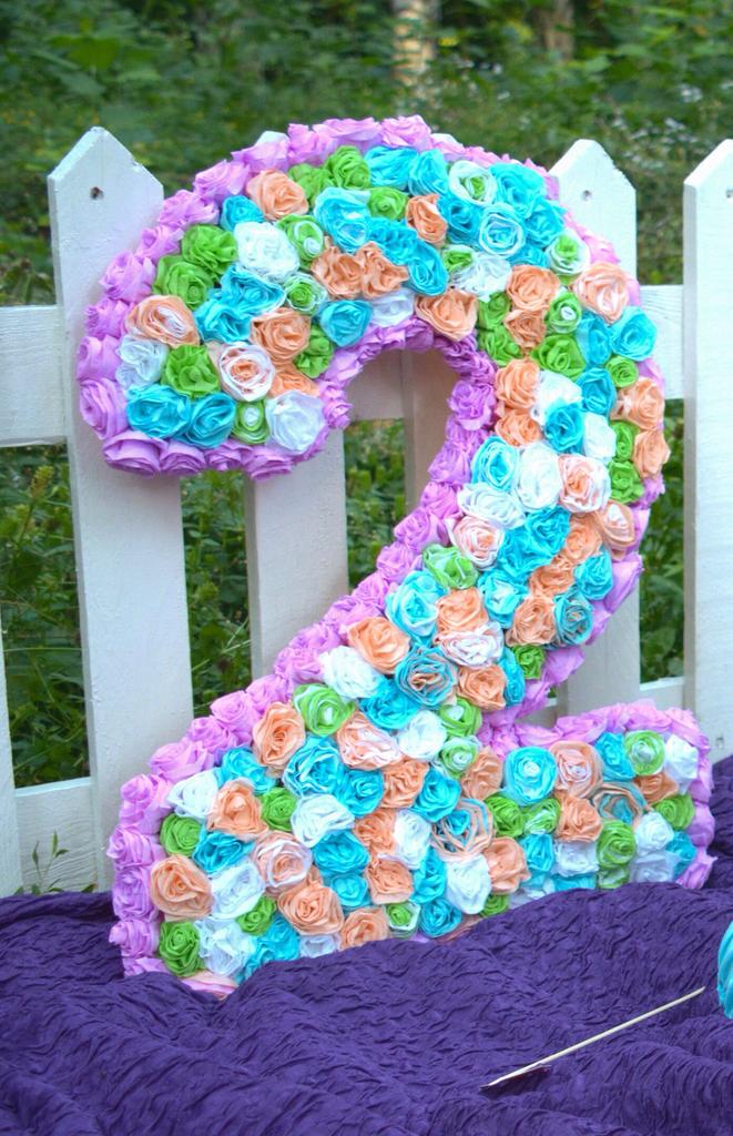 Как сделать цифру для дня рождения девочки