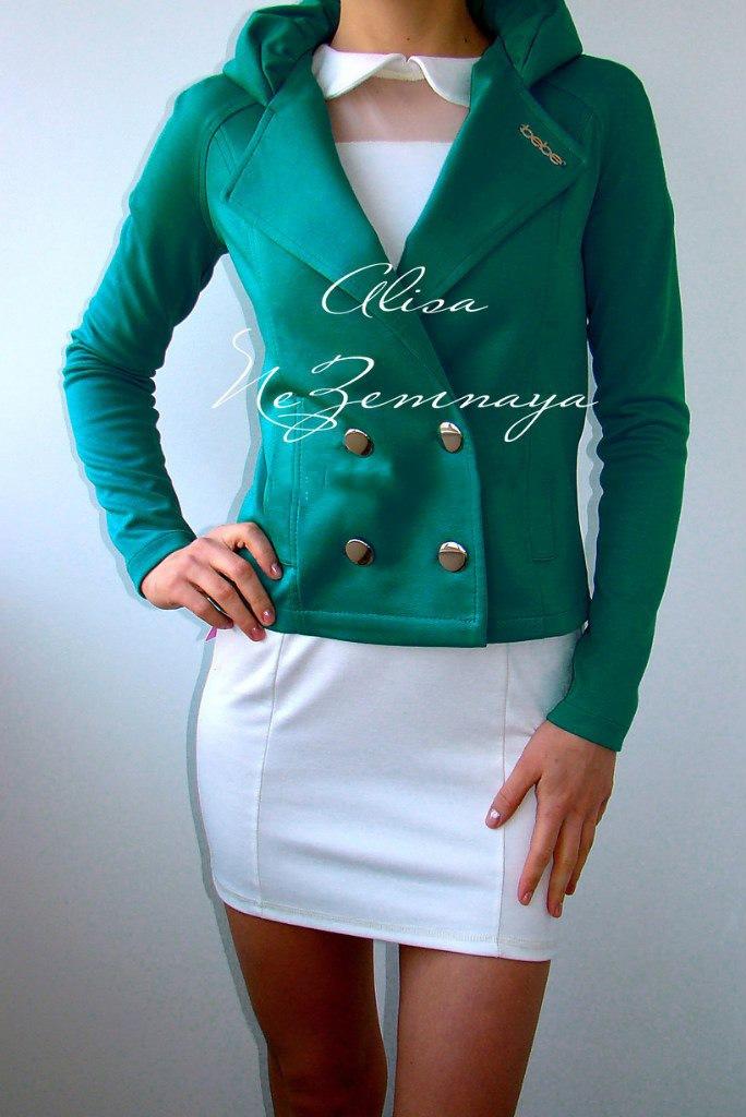 Пиджак из трикотажа