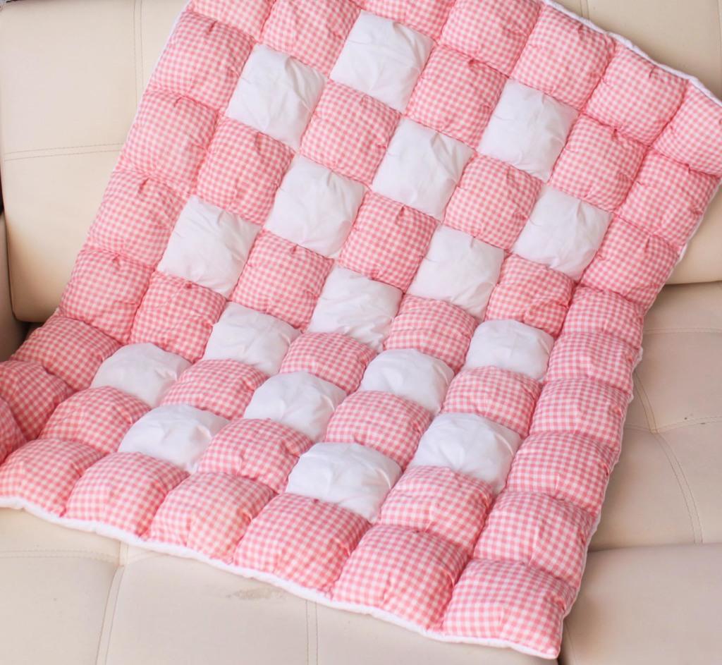 Одеяло помпон расход ткани