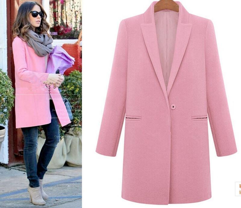 Женское розовое пальто