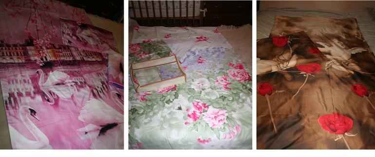 2-х  спальные  комплекты  постельного  белья  Сатин  и  Экстра  Сатин  3D  в  наличии  1900р