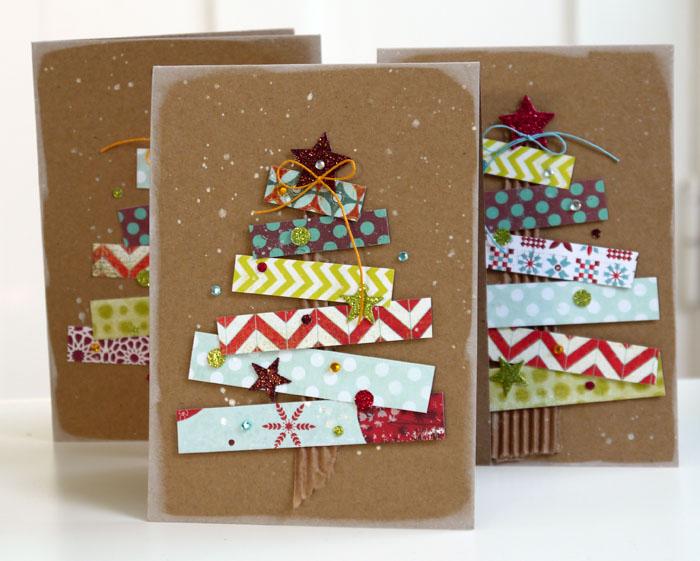 Креативные открытки к новому году своими руками