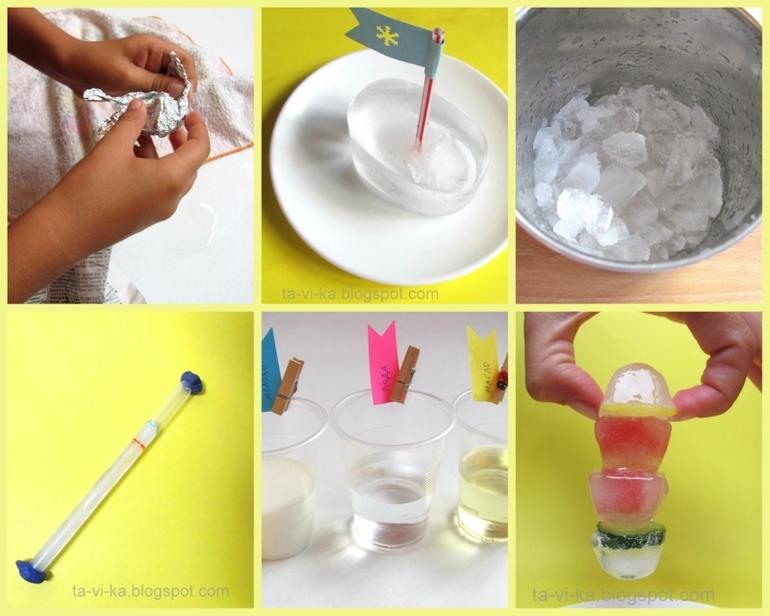 Опыты и игры со льдом для детей