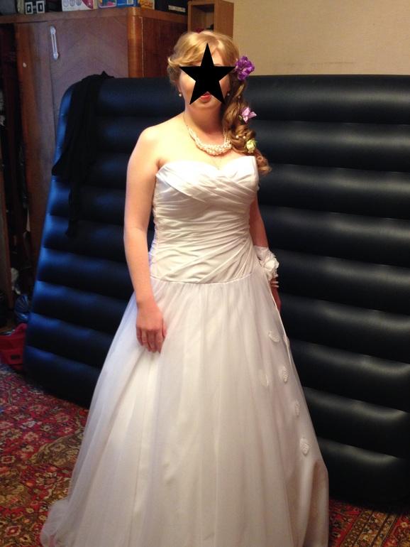 Продам свадебное платье!!! 50-54 р-р, туфли 40 р-р, накидку из лебяжьего пуха