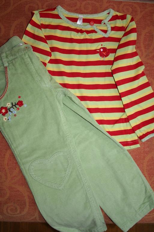 Вельветовые брюки Mariguita на девочку104 размера+