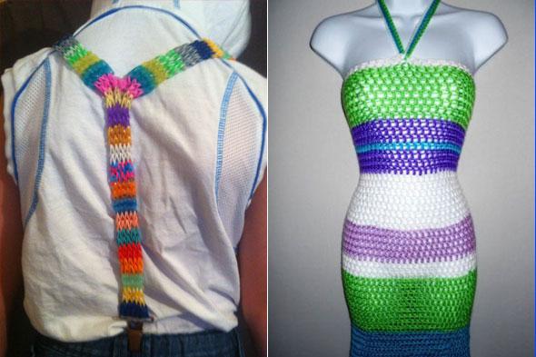 Одежда из резиночек видео плетение