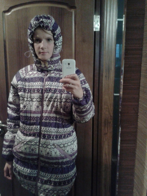 Зимняя слингокуртка