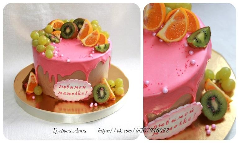 Торт с подтеками мастер класс