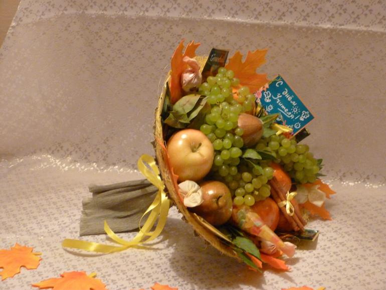 Букет из овощей и фруктов своими руками пошаговое фото для начинающих 87