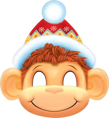 Маска обезьянка на новый год