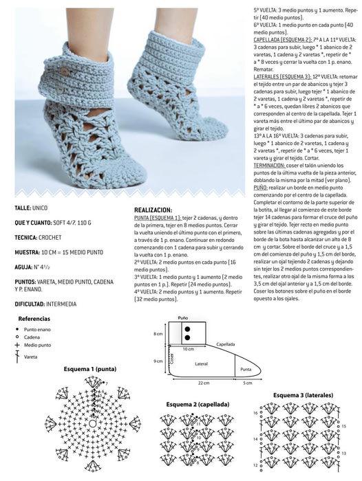 Вязание крючком носки и тапочки