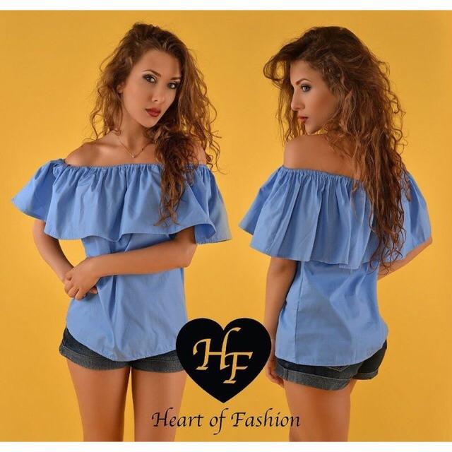Блузка из шитья с воланом