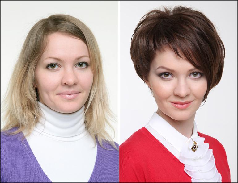 Смена причёски на фото