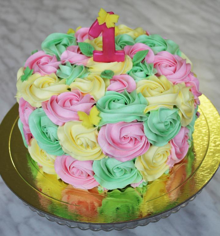 Как сделать крем для украшения торта разноцветный