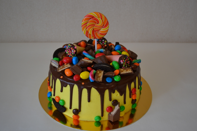 Шоколадный торт для детей на день рождения своими руками