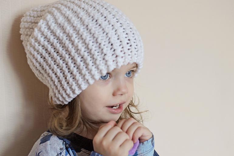 Как связать дет.шапку