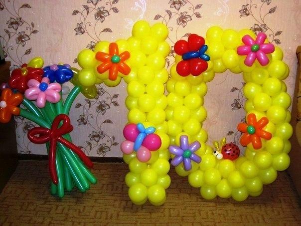 10 из шаров своими руками