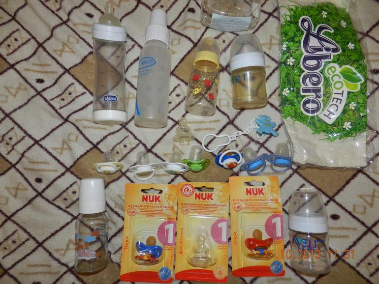 Бутылочки, соски, пустышки новые и бу