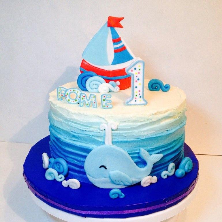 Детские торты морская тема
