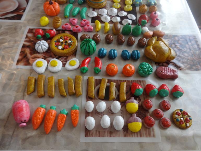 Поделки еды из соленого теста