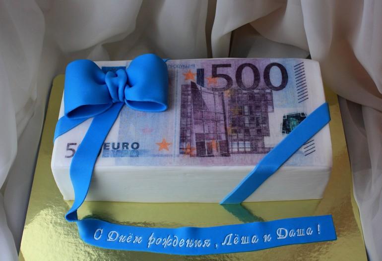 Торт в виде денег фото
