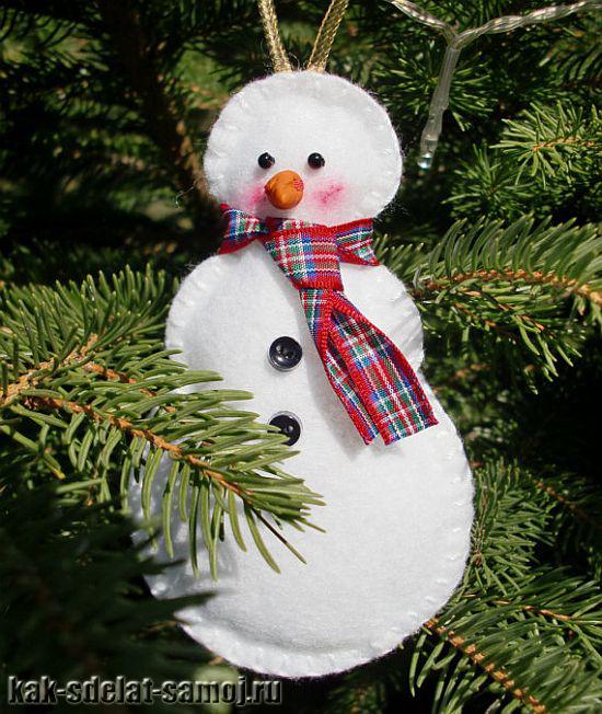 Снеговик игрушка на елку 97