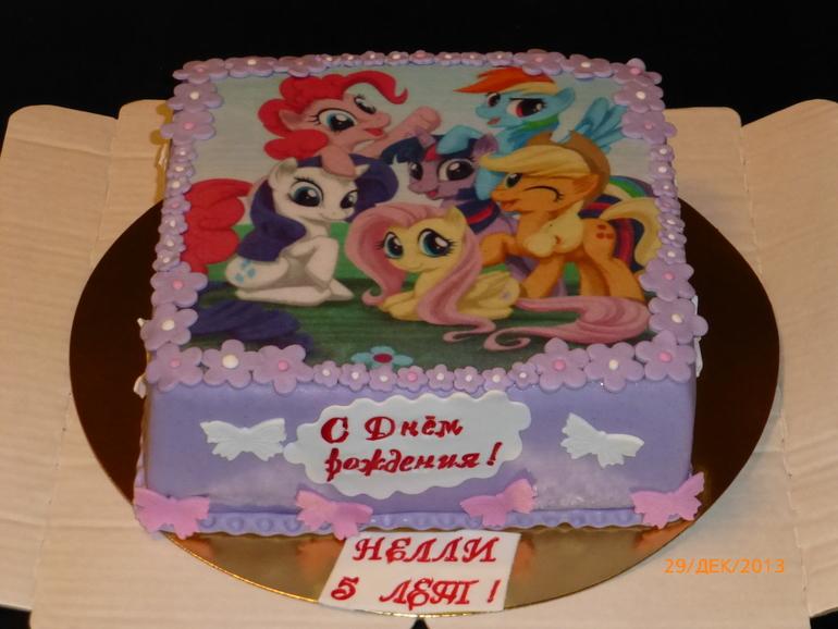Милая пони картинки на торт