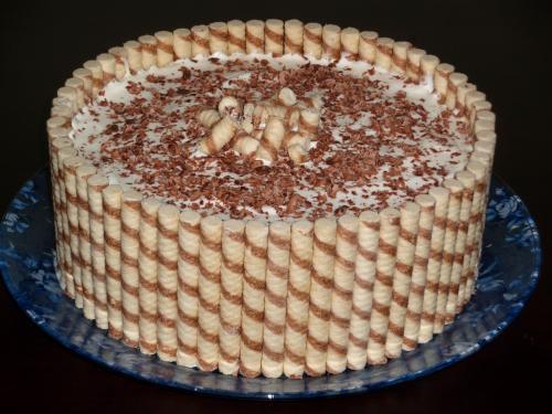 Как украсить торт с трубочек рецепт