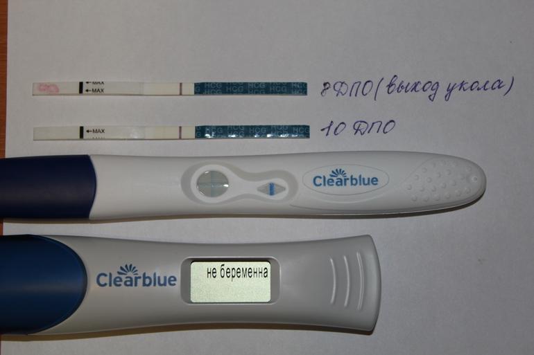 Клеар блю электронный показал не беременна 75