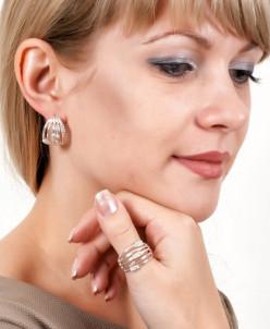 Кольцо из серебра Канны Юмила