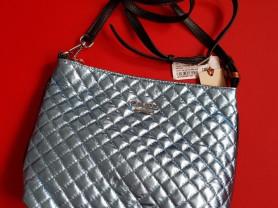 Новая голубая сумка из натуральной кожи Италия