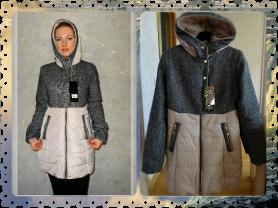 Новое теплое стильное осеннее пальто 42