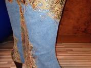 Новые джинсовые сапоги