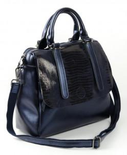 Женская кожаная сумка  1727 Лазер Д.Блу