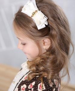 """Ободок для волос """"Вельвет розочки"""""""