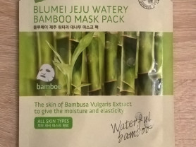 Маска тканевая Jeju Watery Bamboo Mask Pack, Корея