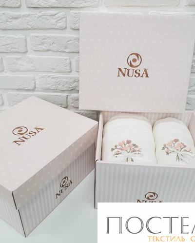 3984 Набор полотенец Nusa махровое с вышивкой 2пр. 50x90, 70