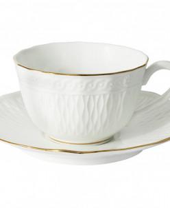 Чашка с блюдцем Бьянка