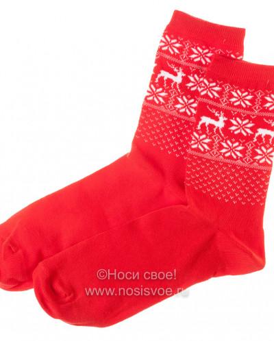 Н603 Носки женские (красный)