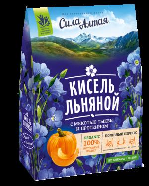 """Кисель льняной с мякотью тыквы и протеином """"Сила Алтая"""" 150"""
