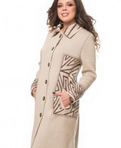 Пальто на полную фигуру Алегро М-0578