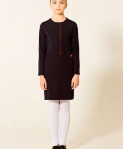 Платье с декоративной складкой младшая школа