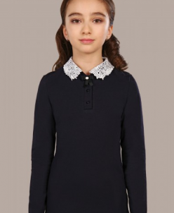 Джемпер для девочки О*ливия т-синий с белым