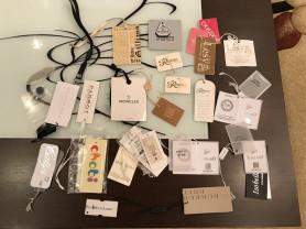 Этикетки от брендов