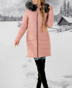 Зимняя Куртка Флорида (розовый серый мех) Olis-Style