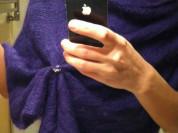 Пончо новое Италия размер S M L 42 44 46 48 уника единый оверсайз мохер фиолетовый сиреневый мягкий сзади треугольником вниз пошит вязаное накидка кофта свитер болеро рукава Одежда бренд