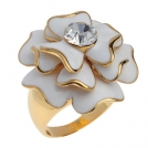 """Позолоченное кольцо с кристаллами Swarovski """"Армерия"""""""