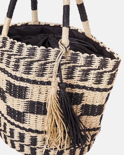 Вместительная соломенная сумка MR 2222 2375 0220 Black