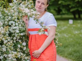 """Летнее платье для беременных """"Буду мамой"""" 48 р-р"""