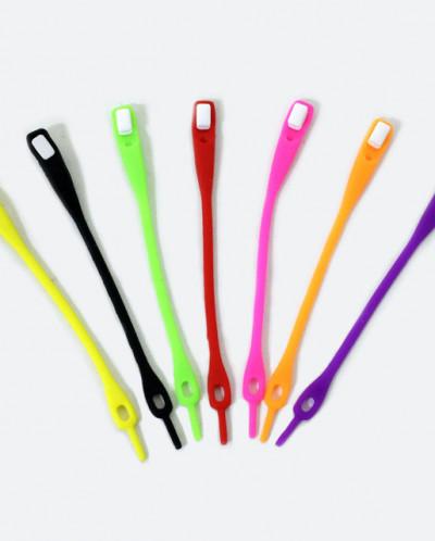 Шнурки силиконовые Simple shoelace черные 6pcs 12см
